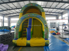 Forest theme inflatable slip and slide for water park