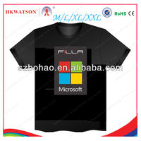 2013 hot selling ktv disco flashing light up t shirt led,custom music activated equalizer panel el t-shirt suppliers