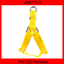 Hot!!!2015 wholesale product cool &popular led dog harness for dog in dark