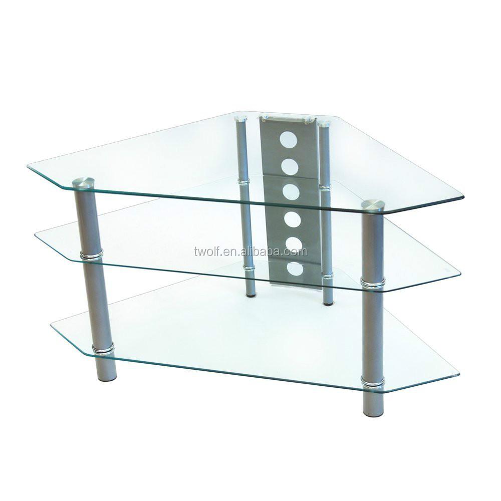 Moderno in vetro curvato ikea tv angolo stand ikea tv lcd - Porta tv in vetro ikea ...