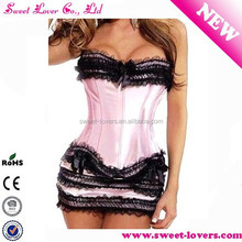 Wholesale Strapless Fashion Lace Sexy Party Corset For Fat Girl