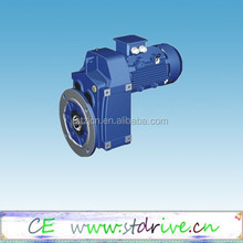 ST Drive Brand F series parallel shaft solid shaft helical electric gear speed reducer