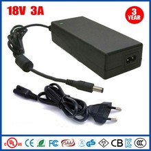 54w 3a 18v ac to dc regulated power supply passed UL GS CE KC