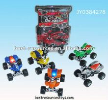 1:18 pull back diecast car of ATV with music*light/diecast beach motorcyle
