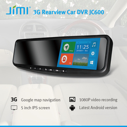 New JIMI JC600R hd lcd 3G bluetooth/wifi android version smart automobile rearview mirror gps navigation dvr monitor