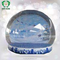 Popular!!Christmas snow globe,indoor inflatable snow globe,Advertising inflatable snow globe