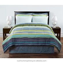 100% polyester hayden stripe complete bed set