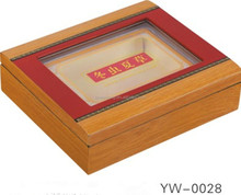 Health care products company use and MDF material food container wood box with clear window