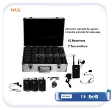 Portable Tour Guide System Receiver WUS068R Audio Guide/ Sound Wireless System for factory tour/walking tours