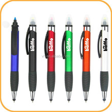 Plastic stylus pen with highlighter for promotion