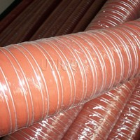 silicone coated duct hose for heat resistant