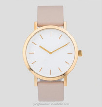 Classic elegance gold stainless steel case silm thin strap latest wrist watches for girls