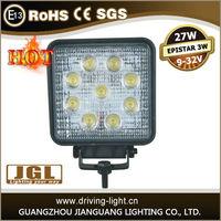 flood/spot auto lighting led work light, 27Watt Waterproof led working lamp High Power Led Off Road work Lights 12v 24v
