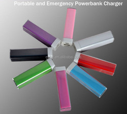 Top selling product promotional gift customized logo 2600mah lipstick power bank