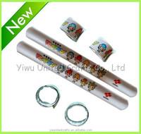Customised logo printed reflective band and rulers,reflective slap armband for safety,reflective armbands with logo iron on