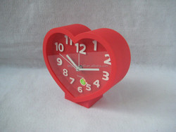 Best selling table antique digital clock heart shape alarm clock for room decoration