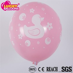 China balloons wholesale rubber duck printed latex balloons