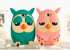 hot sale sublimation cartoon owl silicone back case for samsung galaxy s4 for iphone iphone5/5S/5C