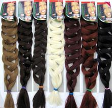 X-pression hair 82 inches nigeria quality synthetic kanekalon braiding hair Xpression 50-100pcs/lot