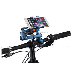 Smilinmanufacturer swiveling Motorcycle Steering Bar Mount Bracket for cell phone and flashlight