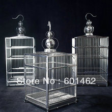 2015 Popular 36*36*42cm Parrot Square Bird Cages Stainless Steel Pet Cage Chinese Wholesale