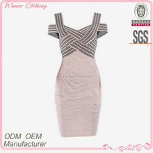 newest fashion dresses design wide strap crossed slim fit summer/casual wear model dresses with korean style