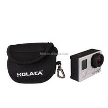 HOLACA Sports camera Mini Neoprene Protective Carry Case Bag for GoPro Hero 2 3 3+ 4 Cameras