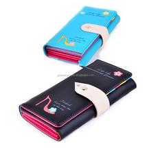 New PU Leather Zipper Hasp Clutch Coin Purse Flower High Heel Women Clutch Bag Wallets Long Clutch Wallet Phone Package Bag