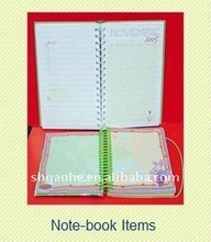 fabric cover notebook hot items for 2012