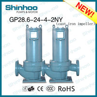 (GP28.6-24-4-2NY) CAST IRON IMPELLER PIPE CANNED MOTOR HOT AND COLD CIRCULATION PUMP