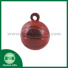 Wholesale HouSon China manufacturer Metal Crafts gifts football small bell NBA basketball jingle bell