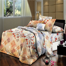polyester brushed fabric bedding/house wholesale bed sheet