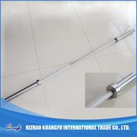 Chromed plated curved olympic weight barbell bar