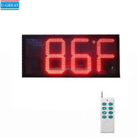 Made in china outdoor digital timer and temperature display