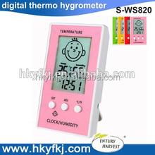 Stazione meteo lcd igrometro digitale/termometro(1 x AAA) s-ws820