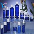 2015 azul de vidrio loción cosmética frasco gotero de venta al por mayor
