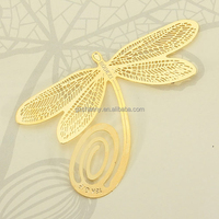 New for Creative Reading 18K Gold Golden Dragonfly Style Bookmark Book Marks Gifts