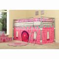 niños cama litera con tienda de campaña de la princesa cama con kb1 en747 estándar