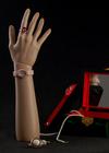 exposição da jóia a cor natural do sexo feminino manequim de plástico armas das mãos
