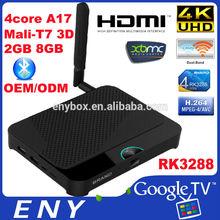wifi 802.11 b/g/n a/c GPU 4k rk3288 mali-t7 hardware decoding H265 android 4.4 android mini pc rk3288