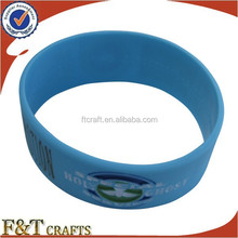 promotional thick cool mens rubber college team wide silicone bracelet in bulk