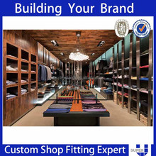 modern design men clothing garment shop display furniture