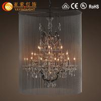 Vintage Birdcage Chandelier Crystal Decorative Pendant Light,Big stylish metal crystal birdcage chandelier