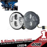 USA STOCK 40W led motorcycle headlight For Harley Davidson