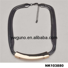 fashionable gun color plated popular fashion necklace