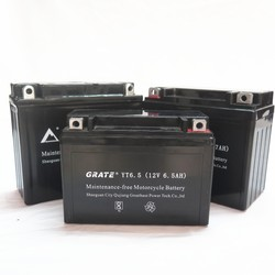 manufacture high quality motorcycle battery 12v 6.5ah VRLA battery China 12v agm battery motorcycle