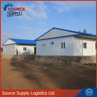 Construction Site office prefabricated building house, labor quarter in Asia