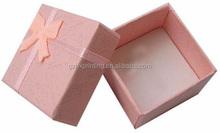 2015 Guangzhou Wholesale Fancy Cardboard Small Jewelry Box Hardware