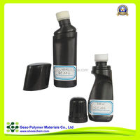 shoe liquid polish with sponge for shoes leather upper in plastic bottle