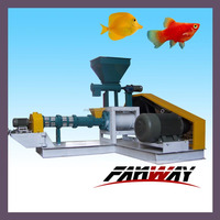 Dry type single screw fish feed pellet machine/ Extruder for processing floating fish food